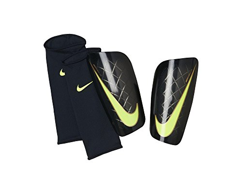new arrival 9018a 6dc73 NIKE Mercurial Lite Soccer Shin Guards, Black Yellow, M