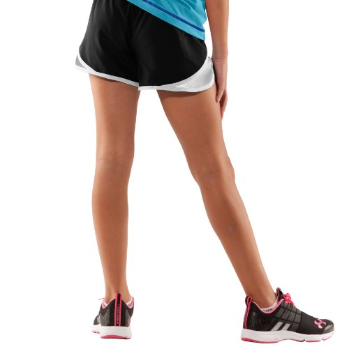 under armour shorts for girls. under armour big girls\u0027 ua escape 3\u2033 shorts youth medium black. $19.99 for girls