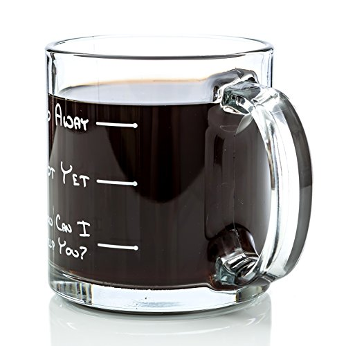 Go Away Funny Glass Coffee Mug Unique Novelty Gift for Coffee