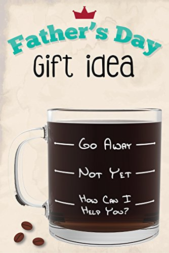 Go Away Funny Glass Coffee Mug - Unique Novelty Gift for Coffee ...