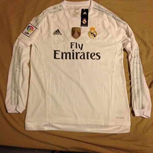 bfb4a9c35 25  real madrid long sleeve home replica soccer jersey 15 16 l. sale 100.00  99.73