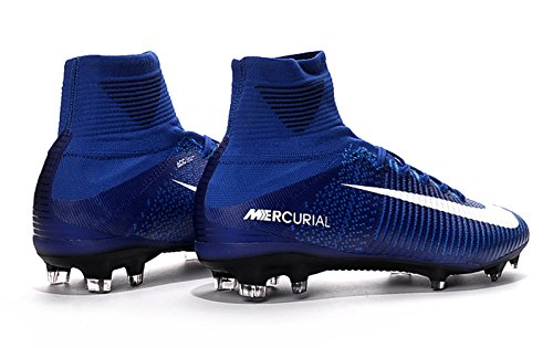 63cba0cb5765 Men s High Ankle Soccer Shoes Nike Mercurial Superfly V FG Blue (US 9.5 –  EUR 43).  260.00