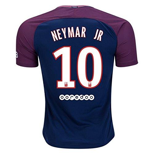 90054ce1c NEYMAR JR  10 PARIS SAINT-GERMAIN   PSG 17 18 Home Soccer Jersey Men s  Color Blue Size M